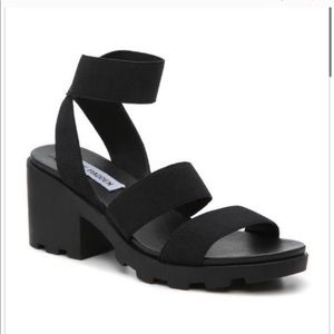 NEW Steve madden haidar black chunky sandals